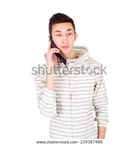 handsome young man of fashion - stock photo