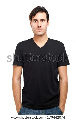 Handsome young man portrait in casual cloths - stock photo