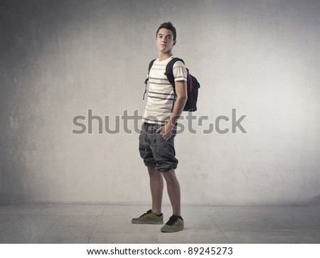 Handsome young student - stock photo