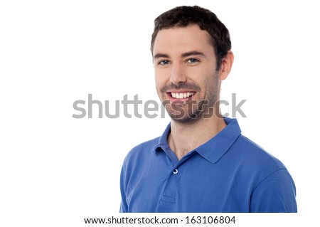 Handsome young stylish smiling man - stock photo
