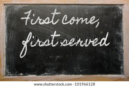 First Come First Serve Stock Images Royalty Free Images