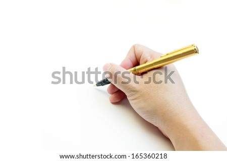 Handwriting blank - stock photo