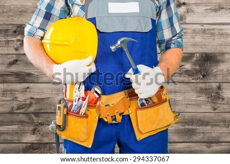 Handyman, men, belt.