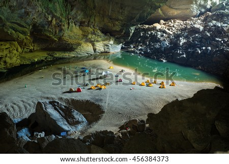 Hang En (swallow cave), the entrance to go to Son Doong Cave, the largest cave in the world, is in the heart of the Phong Nha Ke Bang National Park in the Quang Binh province of Central Vietnam