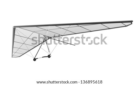 Hang Glider Isolated on White Background - stock photo