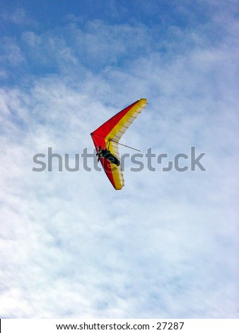 Hang gliding at Fort Funston in San Francisco California