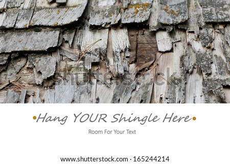 Hang Your Shingle Here Business or Website Announcement with Room for YOUR Text - stock photo
