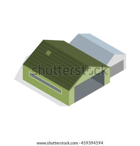 Hangar icon in isometric 3d style isolated  illustration