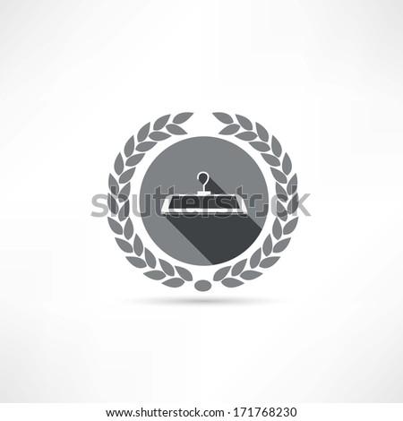hanger icon - stock photo