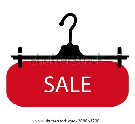 hangers with sale ,Sales season - stock photo