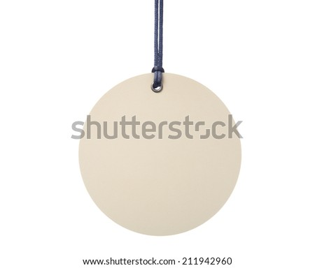Hanging blank tag - stock photo