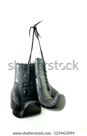 Hanging Boxing Gloves - stock photo