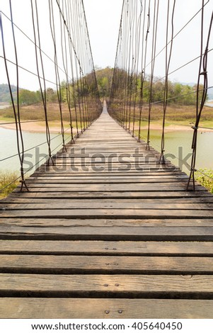 Hanging Bridge - stock photo