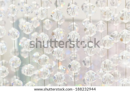 Hanging crystal balls - stock photo