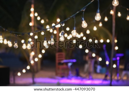 Superb Hanging Decorative Lights For A Wedding Party