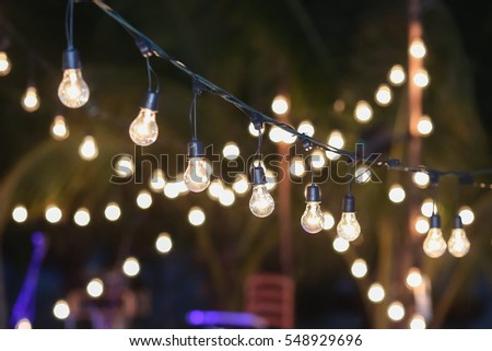 Hanging decorative lights wedding party soft focus stock photo edit hanging decorative lights for a wedding partysoft focus junglespirit Image collections