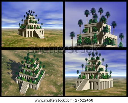 Hanging gardens of babylon stock images royalty free images vectors shutterstock for Hanging gardens of babylon definition