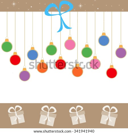 Hanging Holiday Ornaments - stock photo