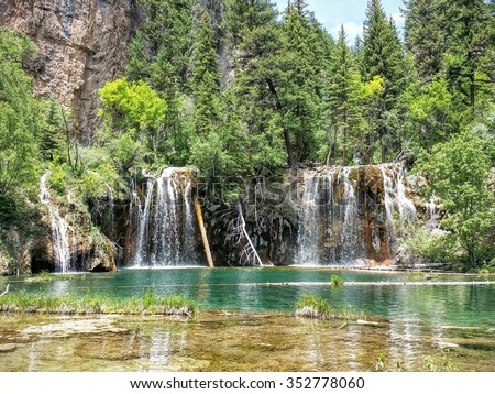 Hanging Lake, Glenwood Springs, Colorado - stock photo