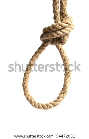 hanging noose - stock photo