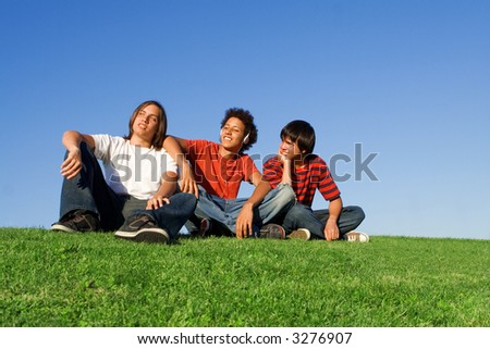 hanging out - stock photo