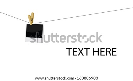 hanging photo frame - stock photo