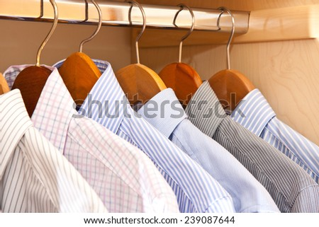 hanging shirts - stock photo
