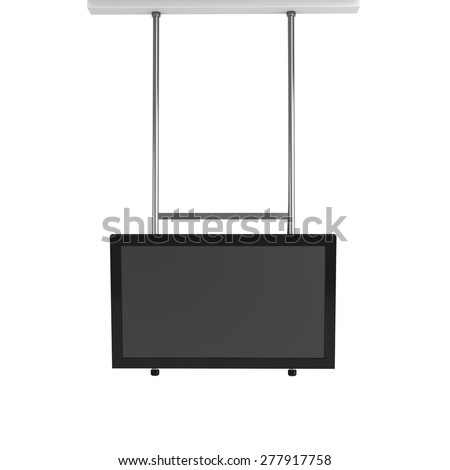 hanging tv display from front view - stock photo