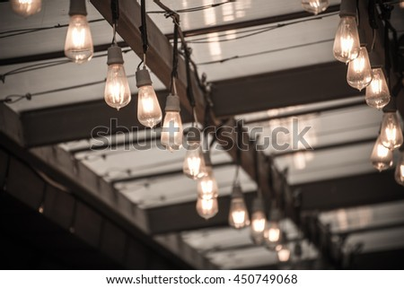 Hanging vintage lighting decoration for ceremony