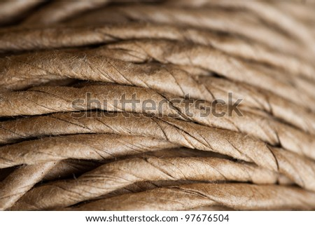 Hank of rope. Can be used as a nice background with sharp details. The rope is used in gardening