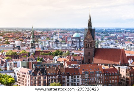 Hannover cityscape panorama