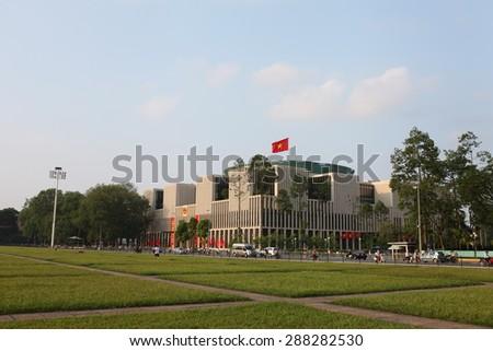 Hanoi, Vietnam, June 17, 2015: Legislative buildings of VIetnam - stock photo