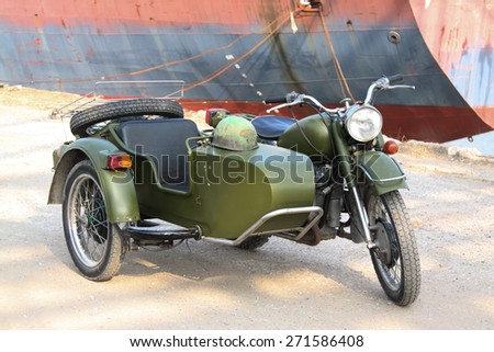 HANOI, VIETNAM - May 5, 2014: An unidentified old car brand, standing in the car park in Hanoi, Vietnam - stock photo