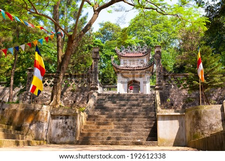 Hanoi, Vietnam, May 10,2014: Tram Gian Pagoda( Chua Tram Gian) famous historical sites near Hanoi - stock photo