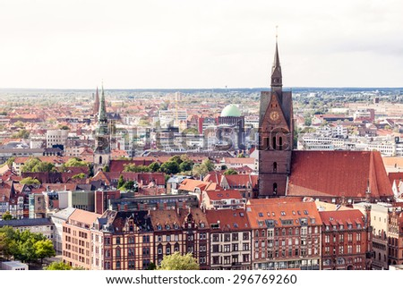 Hanover cityscape with Marktkirche