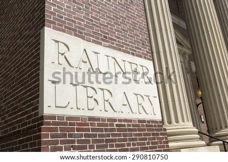 HANOVER, NEW HAMPSHIRE JUNE, 25th: Dartmouth College Rauner Library, Hanover, New Hampshire on June 25th, 2015. - stock photo