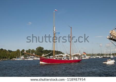 Hanse Sail, Rostock, Mecklenburg-Vorpommern, Germany - stock photo