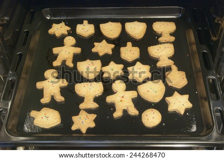 Hanukkah cookies  - stock photo