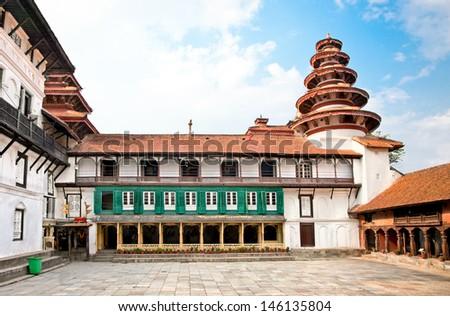 Hanuman Dhoka, old Royal Palace, Durbar Square in Kathmandu,  Nepal. - stock photo