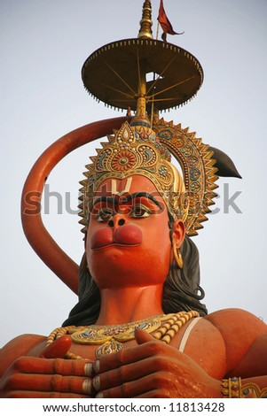 hanuman statue in Delhi - stock photo