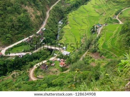 Hapao Rice Terraces, North of Manila, Philippines - stock photo