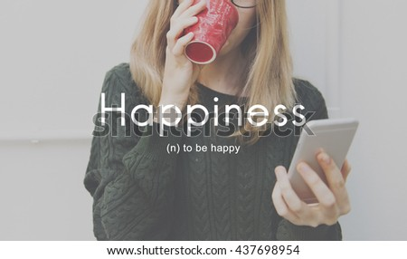 Happiness Cheerful Enjoyment Leisure Playful Concept - stock photo