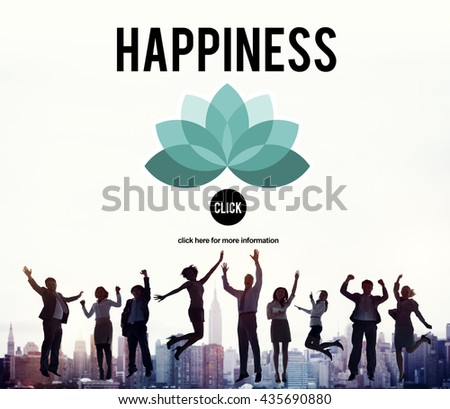 Happiness Enjoyment Recreation Relaxation Positivity Concept - stock photo