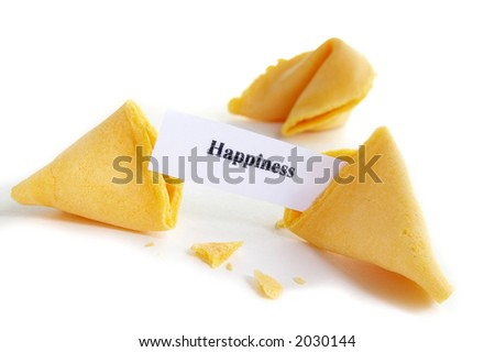 Happiness fortune cookie