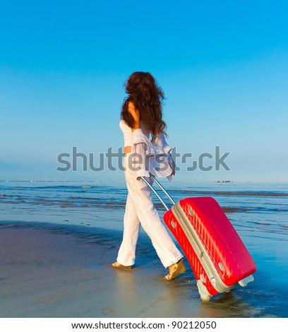 Happiness Holiday Beach - stock photo