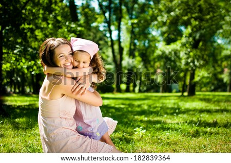 Happiness - mother with her child - stock photo