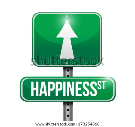 happiness signs illustration design over a white background - stock photo
