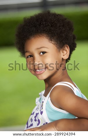 Happy african american girl portrait