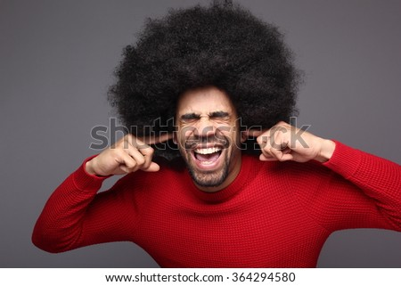 Happy afro man