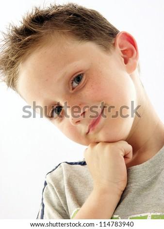 Happy and beautiful kid portrait. - stock photo